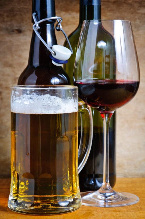 Что лучше пиво или вино?